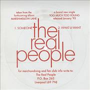 Click here for more info about 'The Real People - Someone/What U Want - Flexidisc'