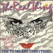 Click here for more info about 'The Real Thing - You To Me Are Everything - The Decade Remix'
