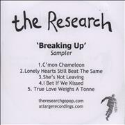 Click here for more info about 'The Research - Breaking Up - Sampler'