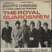 "The Royal Guardsmen Snoopy's Christmas South Africa 7"" vinyl"
