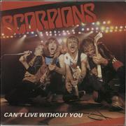 "The Scorpions Can't Live Without You + P/S UK 7"" vinyl"