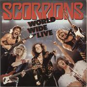 The Scorpions World Wide Live + Poster - EX Germany 2-LP vinyl set