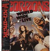 The Scorpions World Wide Live + Poster Japan 2-LP vinyl set