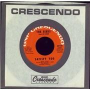 "The Seeds Satisfy You USA 7"" vinyl"