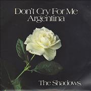 Click here for more info about 'The Shadows - Don't Cry For Me Argentina - P/S'
