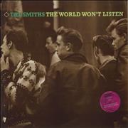 Click here for more info about 'The Smiths - The World Won't Listen - stickered p/s - EX'