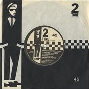 """The Specials A Message To You Rudy - Paper Labels UK 7"""" vinyl"""