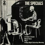 """The Specials Ghost Town - glossy p/s UK 12"""" vinyl"""