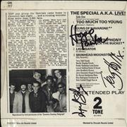 Click here for more info about 'The Specials - Too Much Too Young EP - Autographed'
