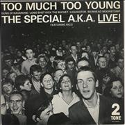 """The Specials Too Much Too Young EP - P/S - Paper Label UK 7"""" vinyl"""