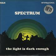 Click here for more info about 'The Spectrum (60s) - The Light Is Dark Enough'