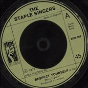 "The Staple Singers Respect Yourself UK 7"" vinyl"
