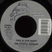 """The Staple Singers This Is Our Night USA 7"""" vinyl"""