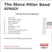 Click here for more info about 'The Steve Miller Band - Bingo!'