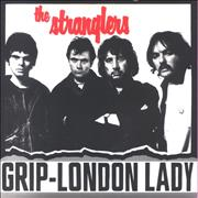 """The Stranglers (Get A) Grip (On Yourself) / London Lady - P/S UK 7"""" vinyl"""