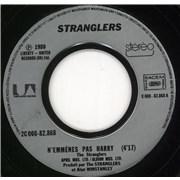 """The Stranglers N'Emmenes Pas Harry France 7"""" vinyl"""
