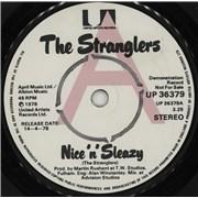 """The Stranglers Nice 'n' Sleazy UK 7"""" vinyl Promo"""