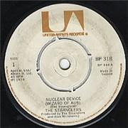 "The Stranglers Nuclear Device Ireland (republic of) 7"" vinyl"