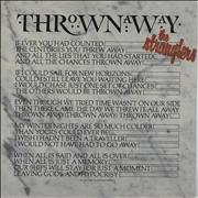 "The Stranglers Thrown Away UK 7"" vinyl"