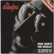 "The Stranglers Who Wants The World? - 79p Sleeve UK 7"" vinyl"