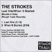Click here for more info about 'The Strokes - Last Nite/When It Started'