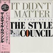"""The Style Council It Didn't Matter Japan 12"""" vinyl"""