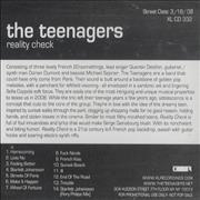 The Teenagers Reality Check USA CD album Promo