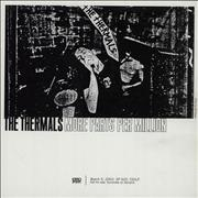 The Thermals More Parts Per Million USA CD album Promo