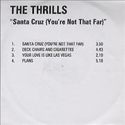 Click here for more info about 'The Thrills - Santa Cruz [You're Not The One]'