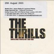 Click here for more info about 'The Thrills - Set Of 6 Promotional CD Singles'