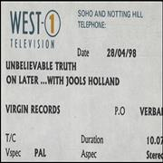 Click here for more info about 'The Unbelievable Truth - On Later With Jools Holand'