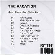 Click here for more info about 'The Vacation - Band From World War Zero'