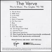Click here for more info about 'The Verve - This Is Music: The Singles '92-'98'
