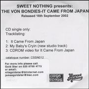Click here for more info about 'The Von Bondies - It Came From Japan'