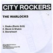 The Warlocks Shake UK CD-R acetate Promo