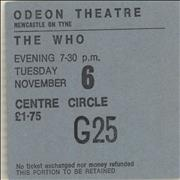 Click here for more info about 'The Who - 1973 Odeon Theatre, Newcastle Ticket Stub'