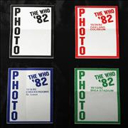 Click here for more info about 'The Who - '82 Tour Passes'
