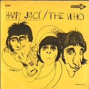 "The Who Happy Jack + p/s USA 7"" vinyl"
