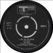 "The Who I Can See For Miles - 4pr UK 7"" vinyl"