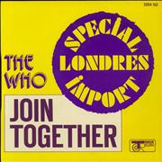 Click here for more info about 'The Who - Join Together - P/S'