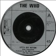 "The Who Let's See Action - Injection Moulded UK 7"" vinyl"