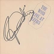 Click here for more info about 'The Who - Live At Leeds - AUTOGRAPHED'