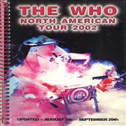 Click here for more info about 'The Who - North American Tour 2002 ~ Updated August 5th - September 29'
