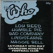 The Who Summer of '74 - EX UK tour programme