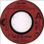 Click here for more info about 'The Who - You Better You Bet - Jukebox'