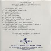 Click here for more info about 'The Wombats - Single, B-Sides & Remixes'