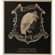 Them Crooked Vultures 2009 Tour Lithograph - Birmingham UK artwork