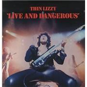 Thin Lizzy Live And Dangerous - EX UK 2-LP vinyl set