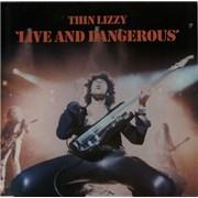 Thin Lizzy Live And Dangerous UK 2-LP vinyl set