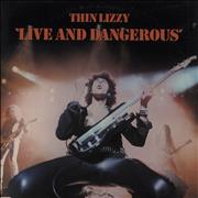 Thin Lizzy Live And Dangerous USA 2-LP vinyl set